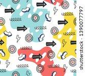 seamless doodle summer pattern. ...   Shutterstock .eps vector #1390077797