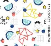 seamless doodle summer pattern. ...   Shutterstock .eps vector #1390077821