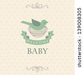 welcome baby card. vector... | Shutterstock .eps vector #139008305