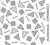 seamless doodle pattern. vector ...   Shutterstock .eps vector #1390086017