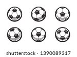 set of different side soccer... | Shutterstock .eps vector #1390089317