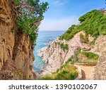 picturesque seascape with a... | Shutterstock . vector #1390102067