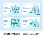 landing page templates concept... | Shutterstock .eps vector #1390129604