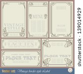 border style labels on... | Shutterstock .eps vector #139014929