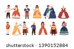 collection of cute little...   Shutterstock .eps vector #1390152884