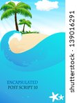 tropical island with palm trees ... | Shutterstock .eps vector #139016291