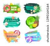 summer summertime sales banners ... | Shutterstock .eps vector #1390164164