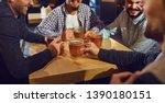beer friends free time concept. ... | Shutterstock . vector #1390180151