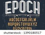 font script typeface vector... | Shutterstock .eps vector #1390180517