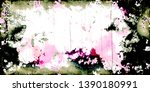 closeup of colorful old film  ...   Shutterstock . vector #1390180991