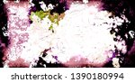 closeup of colorful old film  ...   Shutterstock . vector #1390180994