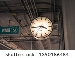modern minimalist clock at... | Shutterstock . vector #1390186484