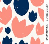 seamless repeating pattern with ... | Shutterstock .eps vector #1390192184