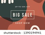 organic abstract shapes in... | Shutterstock .eps vector #1390194941