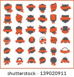 orange stickers  set 1  | Shutterstock .eps vector #139020911