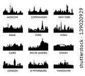city   silhouette vector | Shutterstock .eps vector #139020929