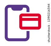 online cashless phone payment... | Shutterstock .eps vector #1390216544
