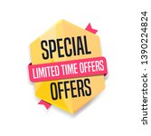 special offers limited time... | Shutterstock .eps vector #1390224824