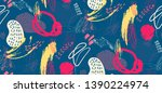 creative doodle seamless... | Shutterstock .eps vector #1390224974