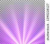purple colored rays with color... | Shutterstock .eps vector #1390228127