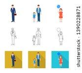 vector design of character and... | Shutterstock .eps vector #1390228871