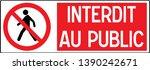 no pedestrian access industrial ... | Shutterstock .eps vector #1390242671