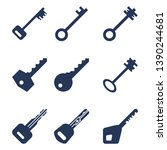 Vector Set Of Silhouette Key...