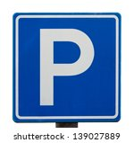 european parking sign isolated... | Shutterstock . vector #139027889
