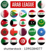 arab league member states flags.... | Shutterstock . vector #1390284077
