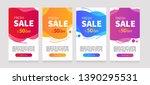 dynamic modern fluid mobile for ... | Shutterstock .eps vector #1390295531