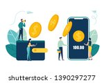 financial transactions  non... | Shutterstock .eps vector #1390297277