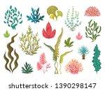 seaweeds. underwater ocean... | Shutterstock .eps vector #1390298147