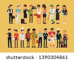 different profession characters ... | Shutterstock .eps vector #1390304861