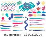 brush  pen  marker  chalk....   Shutterstock .eps vector #1390310204