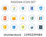 insignia icon set. 15 flat... | Shutterstock .eps vector #1390339484
