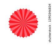 beach umbrella set. top view ... | Shutterstock .eps vector #1390346834