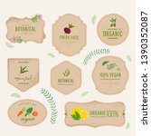 set of natural label and... | Shutterstock .eps vector #1390352087
