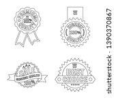bitmap design of emblem and... | Shutterstock . vector #1390370867