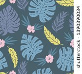 exotic seamless colorful... | Shutterstock .eps vector #1390390034