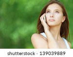 pretty serious young woman... | Shutterstock . vector #139039889