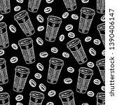 seamless black and white... | Shutterstock .eps vector #1390406147