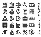 business and finance icons set... | Shutterstock .eps vector #1390417637