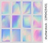 holographic foil gradient... | Shutterstock .eps vector #1390425431