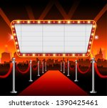 hollywood city red carpet... | Shutterstock .eps vector #1390425461