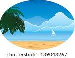 beach scene | Shutterstock .eps vector #139043267