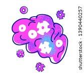 cognitive science concept.... | Shutterstock .eps vector #1390440257