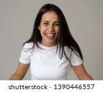close up portrait of attractive ... | Shutterstock . vector #1390446557