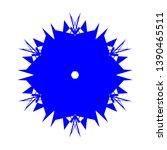 blue flowers   pseudo... | Shutterstock .eps vector #1390465511
