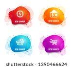 liquid badges. set of add... | Shutterstock .eps vector #1390466624
