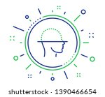 face scanning line icon. facial ... | Shutterstock .eps vector #1390466654